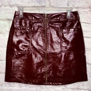 NWOT Oxblood Wild Fable Faux Leather Skirt